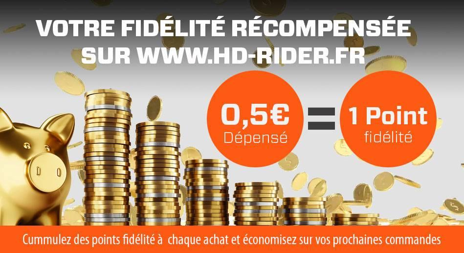 Points fidélités HD RIDER