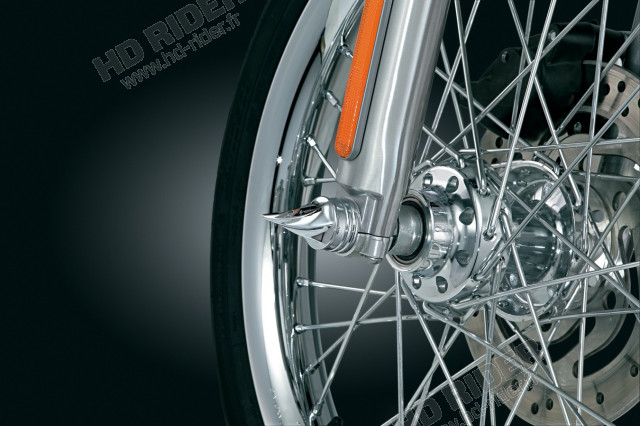 Caches axe de roue - Touring/Dyna/Softail/Sportster/Super Glide/Wide Glide