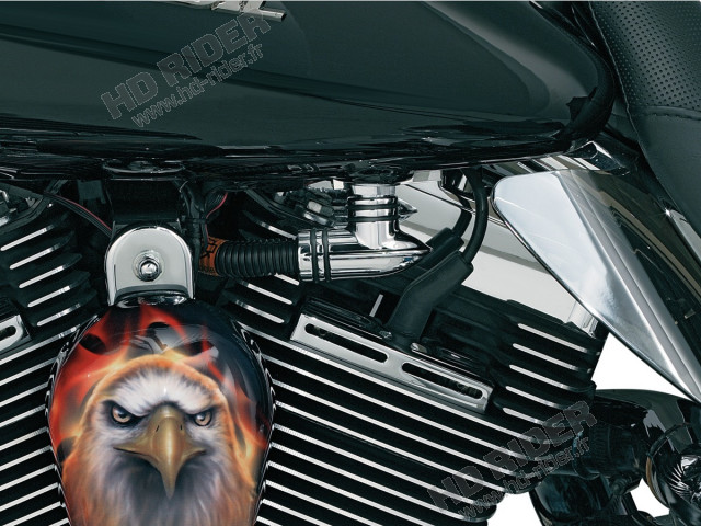 Chrome de durite à essence - Touring/Trike/Softail/Dyna/Sportster
