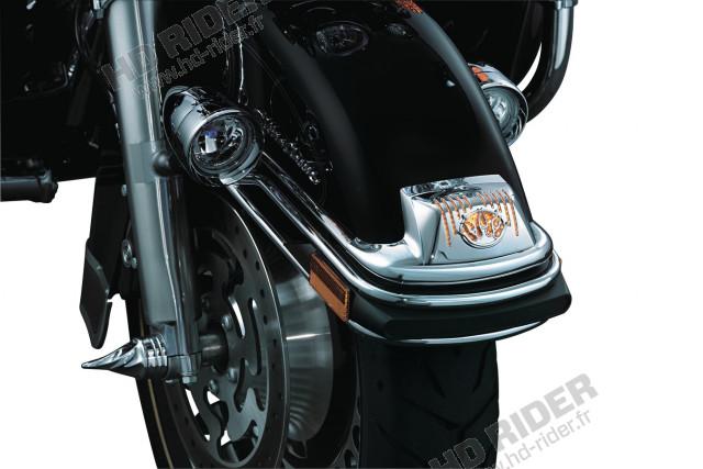 Chrome de feu de garde boue avant - Touring/Trikes/Softail