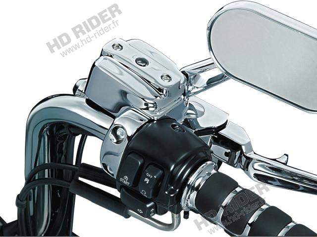Enjoliveurs de réservoir de maitre cylindre de frein et d'embrayage - Softail/Dyna/Sportster