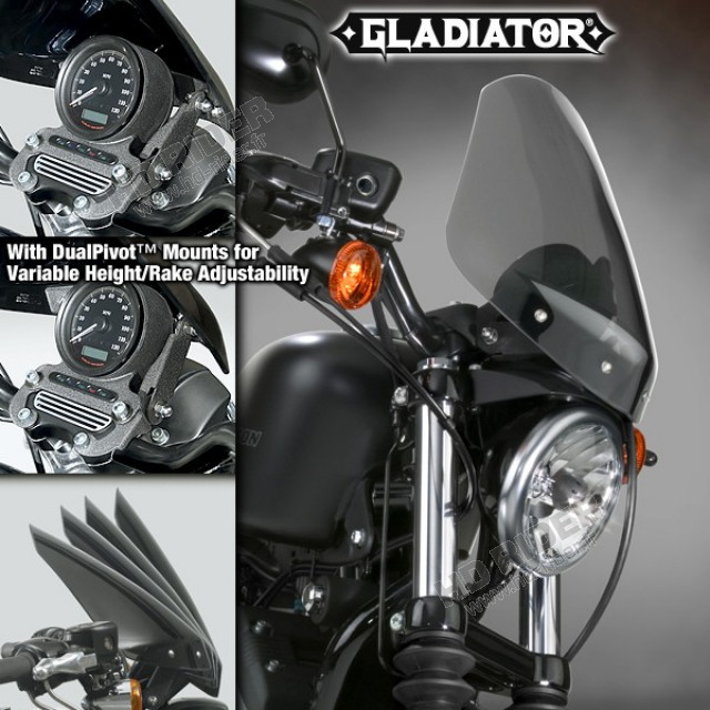 Pare-brise Gladiator - Sportster/Dyna